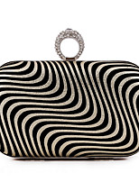 Women Bags All Seasons Polyester Evening Bag with Pattern / Print for Wedding Event/Party Formal Gold Black Silver