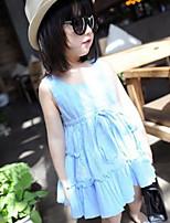 Children's Summer Sleeveless Pleated Dress 2015