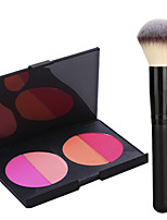 Pro Party 4 Colors Face Blush Blusher Powder Palette + Powder Brush