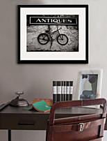 E-HOME® Framed Canvas Art, The Old Bicycle Framed Canvas Print