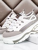 Chaussures Femme Similicuir Plateforme Confort Baskets à la Mode Décontracté/Sport Noir/Rose/Gris