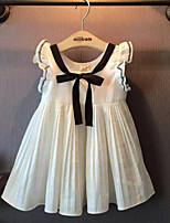 Girl's Cute Bow Pleated Dresses
