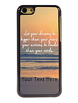 Personalized Gift Dream and Fear Design Aluminum Hard Case for iPhone 5C