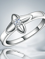 Cute/Party/Work/Casual Silver Plated Statement Ring With Zircon