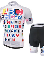 Men's Short Sleeve Summer Cycling Suits Shorts/Bib Shorts Breathable/Moisture Permeability/Back Pocket/Reflective Strips