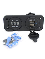 2in1 motorfiets telefoon waterdichte 2.1a / 1a usb lader adapter + voltmeter socket