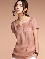 Women's Casual Vintage Literary Style Loose Blouse (Linen)