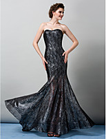 TS Couture Formal Evening Dress - Trumpet/Mermaid Strapless Sweep/Brush Train Tulle
