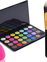 Pro Party 28 Colors Eyeshadow Matt Earth Color Makeup Palette + Powder Brush+Powder Puff