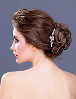 Bergkristal/Licht Metaal Vrouwen Helm Bruiloft/Speciale gelegenheden/Casual Haarkammen Bruiloft/Speciale gelegenheden/Casual 1 Stuk