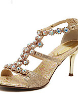 Women's Shoes Stiletto Heel Heels Sandals Outdoor/Dress Gold