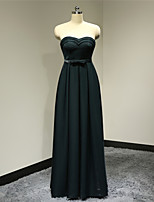 Dress A-line Sweetheart Floor-length Satin Dress