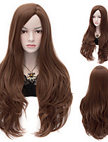 Natural Wave Brown Color Long Hair Wigs Synthetic Wave Hair Wigs Fashion Style