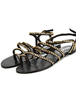 Women's Shoes Synthetic Flat Heel Novelty Sandals Casual Black