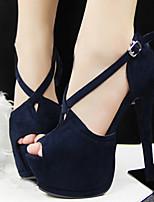 Women's Shoes Leatherette Stiletto Heel Heels/Peep Toe Sandals/Pumps/Heels Casual Multi-color