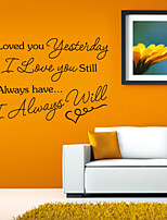 Wall Stickers Wall Decals Style I Loved You English Words & Quotes PVC Wall Stickers