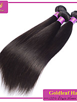 3pcs / lot brasileña virginal del pelo recto natural negro