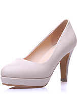 Women's Shoes Leather Stiletto Heel Round Toe Pumps Dress More Colors Available