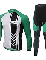 WEST BIKING® Breathable Men's MTB Green Clothing Suit Wicking Cycling Long Suit Long Sleeves Long Pants