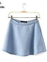 LIVAGIRL®Women's Skirt Fashion Europe New Style A-line Jean Drape Skirt Casual All-Match Sweet Lady Preppy Skirt
