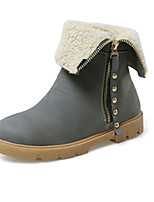 Women's Shoes Wedge Heel Fashion Boots/Round Toe Boots Dress/Casual Black/Yellow/Gray/Beige