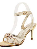 Women's Shoes Stiletto Heel Pointed Toe Sandals Party & Evening/Dress Silver/Gold