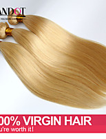 3pcs 7A Bleach Blonde 613 Virgin Hair Extension Brazilian Vingin Hair Straight Brazilian Human Hair Weave Bundles Hair