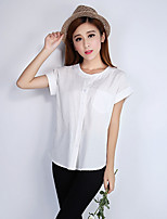 Women's White Shirt Short Sleeve