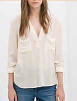 Katoen Vrouwen - Overhemd - Lange mouw
