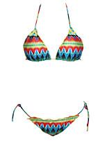 Women's Sexy Flounced Abstract Print Bikini