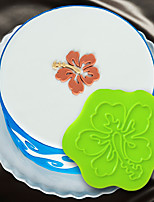 Cake Decorating Mold 3D Cake Stencil Silicone Hibiscus Medallion Mould For Fondant Chocolate And Arts & Crafts