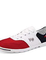 Men's Shoes Casual Canvas/Fabric Fashion Sneakers Blue/Red