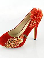 Women's Shoes Leatherette Stiletto Heel Heels Pumps/Heels Wedding Red