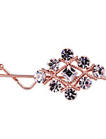 Elegant Women's Fashion Plated Crystal Hairpin FY0068