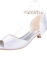 Feminino Wedding Shoes Peep Toe Sandálias Casamento/Festas & Noite Preto/Azul/Rosa/Vermelho/Marfim/Branco/Prateado/Champagne