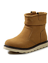 Men's Boots Comfort Winter Leatherette Casual Brown Yellow Black Flat