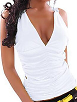 Women's Lace White/Black Vest , Lace V Neck Sleeveless Lace
