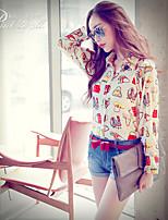 Pink Doll®Women's Shirt Collar Casual/Print Long Sleeve Regular Shirt