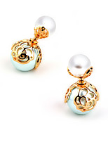 Vintage/Cute/Party/Work/Casual Gold Plated/Alloy/Imitation Pearl Drop Earrings