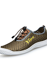 Men's Shoes Outdoor / Athletic / Casual Tulle Fashion Sneakers Blue / Brown / Gray