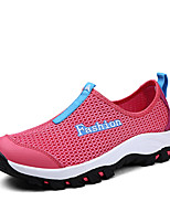 Women's Shoes Tulle Flat Heel Comfort/Round Toe/Closed Toe Fashion Sneakers Casual Red/Gray/Navy