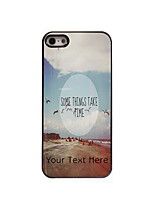 Personalized Gift Some Thins Take Time Design Aluminum Hard Case for iPhone 4/4S