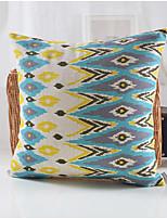 Peacock Pattern Cotton/Linen Decorative Pillow Cover