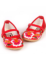 Girls' Shoes Outdoor/Party & Evening/Dress/Casual Mary Jane/Comfort/Round Toe Silk Flats Pink/Red/Coral