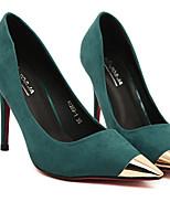 Women's Shoes Faux Leather Stiletto Heel Heels Pumps/Heels Outdoor/Casual Green