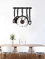 DIY Creative Kitchenware Wall Clock