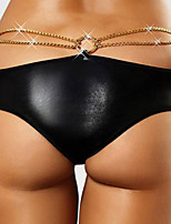 Wholesale and retail popular panty new arrival 2015 new sexy panties sexy leather back open metal sexy underwear women