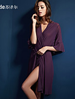 Suzle Sexy Women Polyester Robes Nightwear