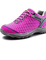 Calçados Femininos Tule Rasteiro Conforto Tênis Social Ar-Livre/Casual/Para Esporte Azul/Rosa