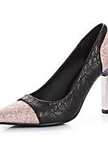 Women's Shoes Fleece/Glitter Stiletto Heel Heels/Pointed Toe Pumps/Heels Dress Pink/Animal Print